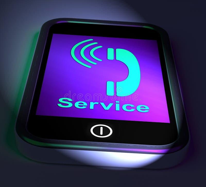 Servizio della richiesta di mezzi del telefono per aiuto illustrazione di stock