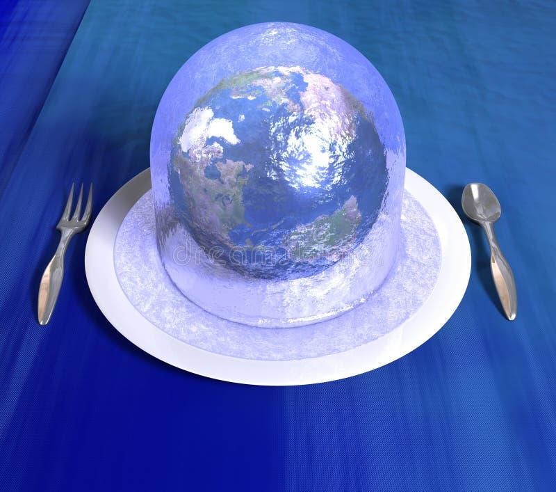 Servizio della terra in una gelatina illustrazione di stock