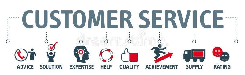 Servizio di assistenza al cliente dell'insegna royalty illustrazione gratis