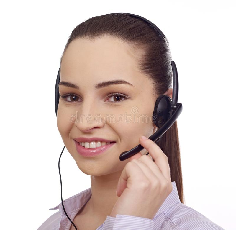 Servizio di assistenza al cliente isolato immagini stock