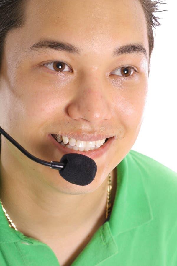 Servizio di assistenza al cliente maschio immagine stock