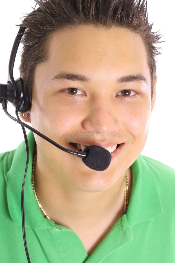 Servizio di assistenza al cliente maschio asiatico immagine stock