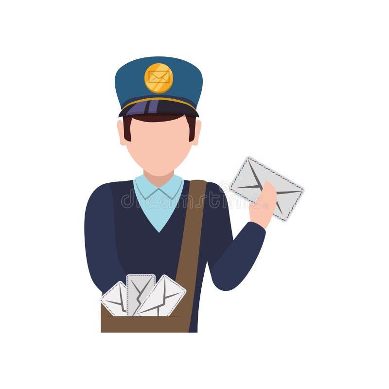 Servizio di distribuzione del postino illustrazione di stock