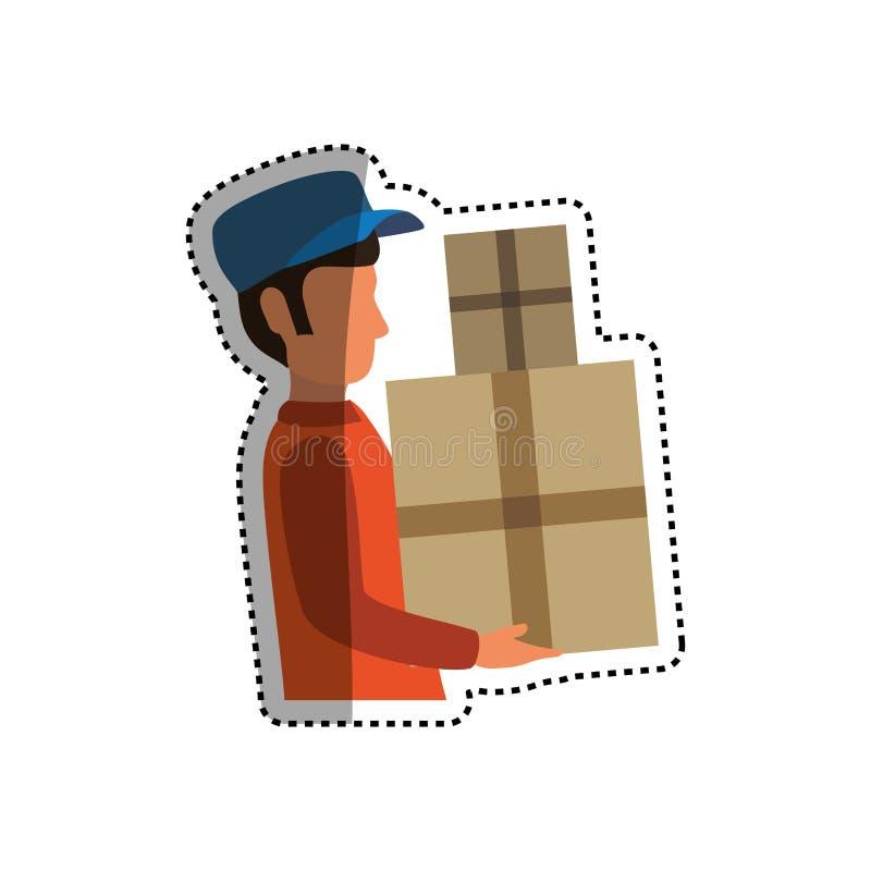 Servizio di distribuzione del postino royalty illustrazione gratis