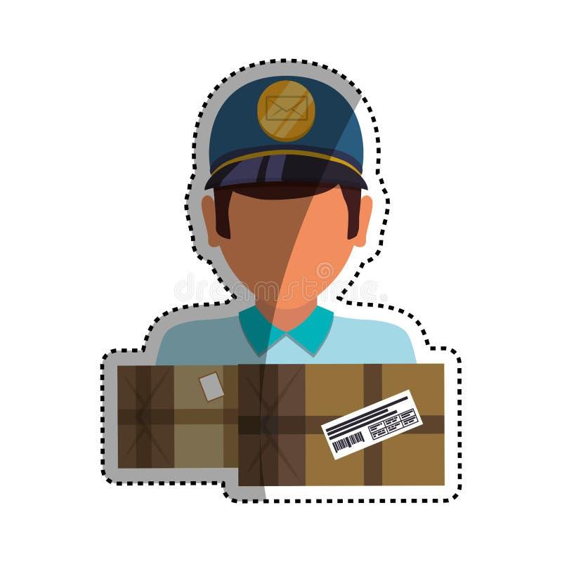 Servizio di distribuzione del postino illustrazione vettoriale