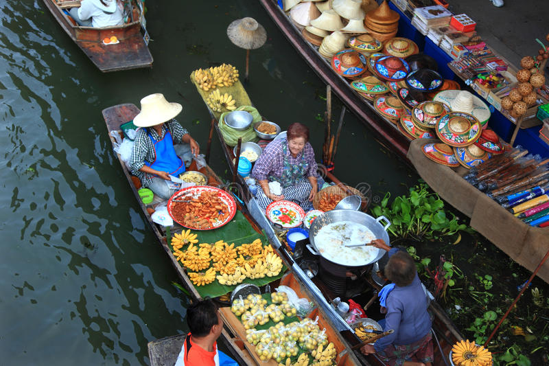 Servizio di galleggiamento Bangkok fotografia stock libera da diritti