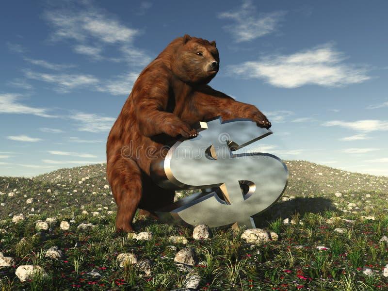 Servizio di orso illustrazione di stock