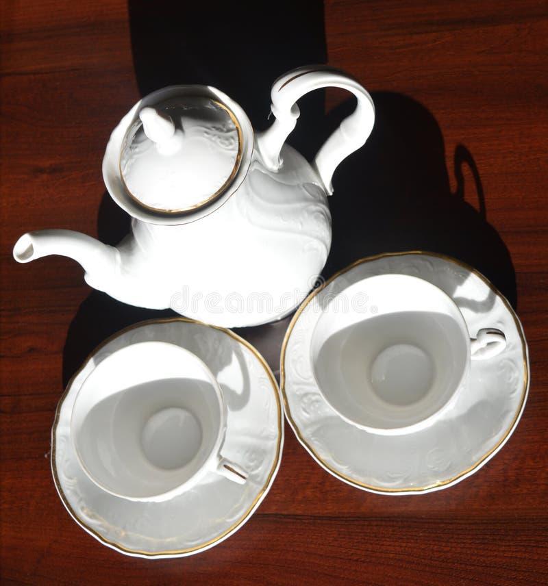 Servizio di tè immagine stock