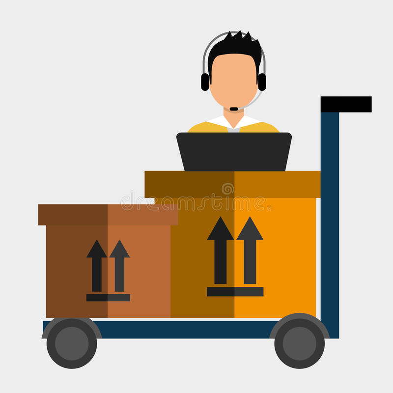Servizio logistico illustrazione di stock