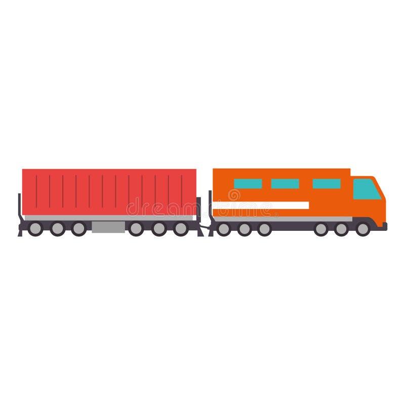 Servizio logistico del treno del carico royalty illustrazione gratis