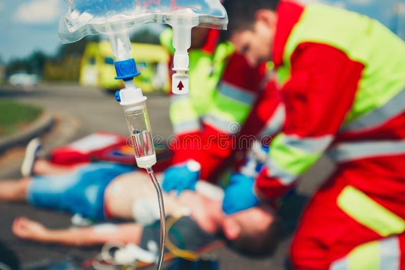 Servizio medico di emergenza fotografie stock libere da diritti