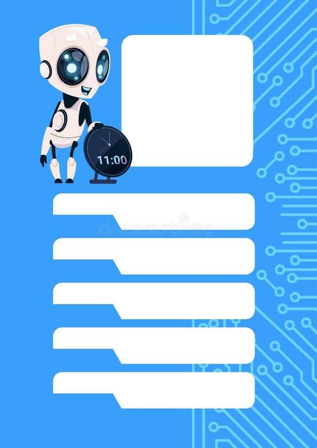 Servizio moderno di Chatbot del Bot di schiamazzo del robot sopra il fondo del circuito con lo spazio della copia royalty illustrazione gratis