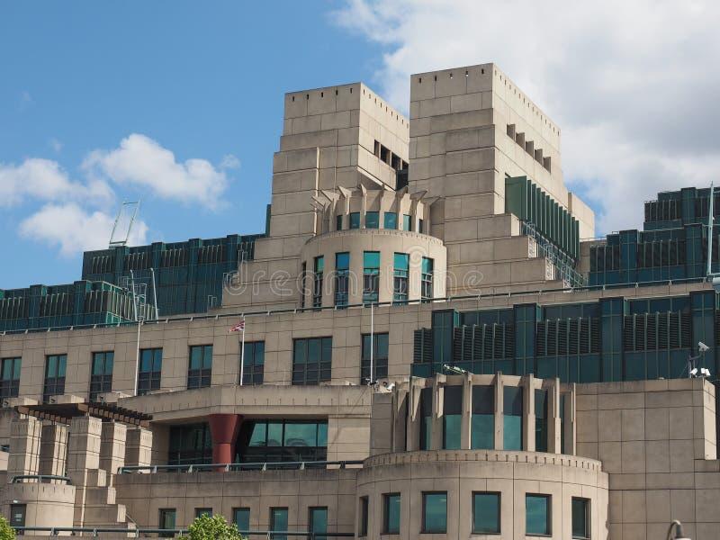 Servizio segreto britannico a Londra immagine stock