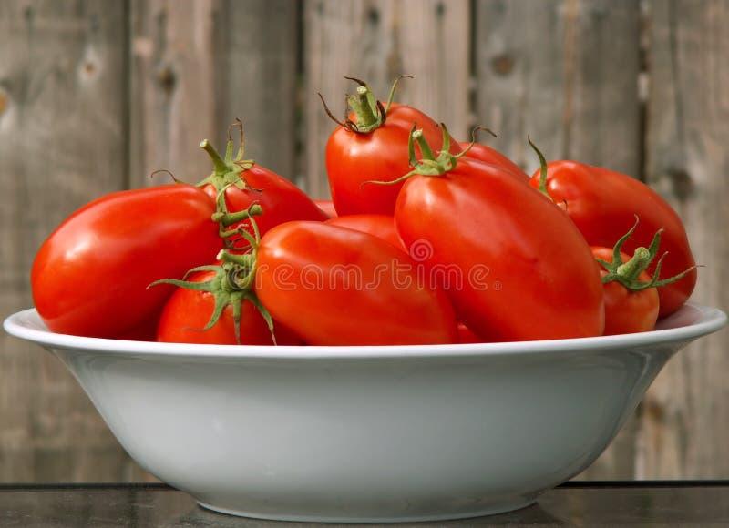 Servizio in su dei pomodori immagini stock libere da diritti