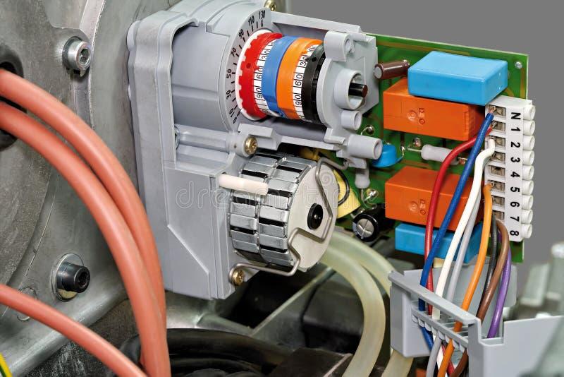 Servo drive. Gas burner, servo drive air shutter. Close-up royalty free stock photo