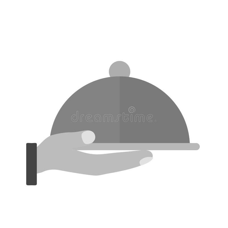 Serw gość restauracji ilustracja wektor