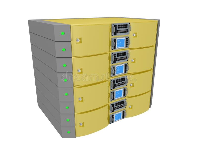 serwer bliźniaka żółty royalty ilustracja