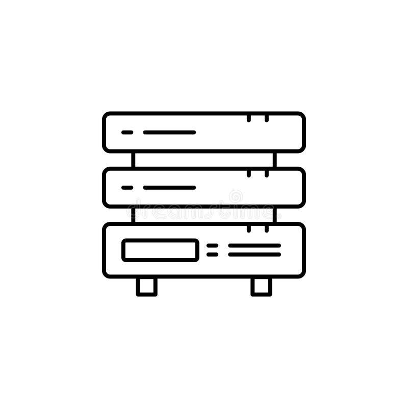 Serwer ikona Prosta element ilustracja Serweru pojęcia symbolu projekt Może używać dla sieci i wiszącej ozdoby ilustracja wektor