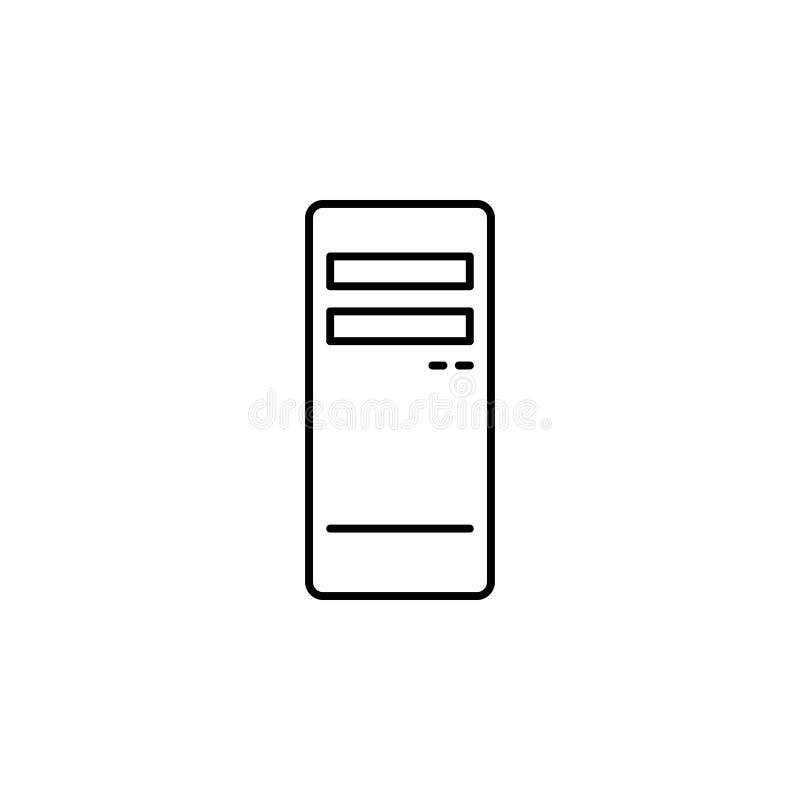 Serwer ikona Prosta element ilustracja Serweru pojęcia symbolu projekt Może używać dla sieci i wiszącej ozdoby royalty ilustracja