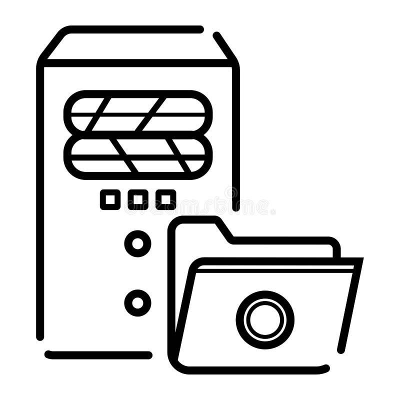 Serwer ikony wektor ilustracji