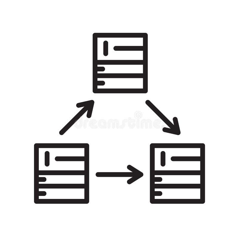 Serwer ikony wektoru znak i symbol odizolowywający na białym tle, serweru logo pojęcie ilustracja wektor