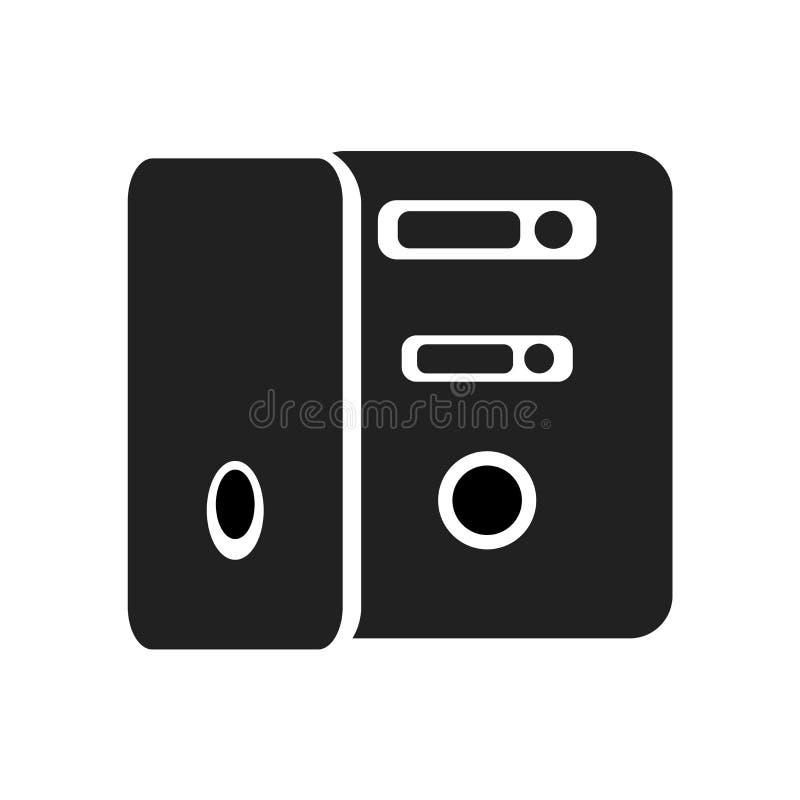 Serwer ikony wektoru znak i symbol odizolowywający na białym tle, serweru logo pojęcie royalty ilustracja