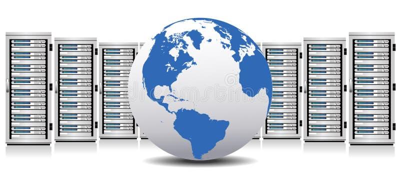 Serwer - sieć serwery z kulą ziemską