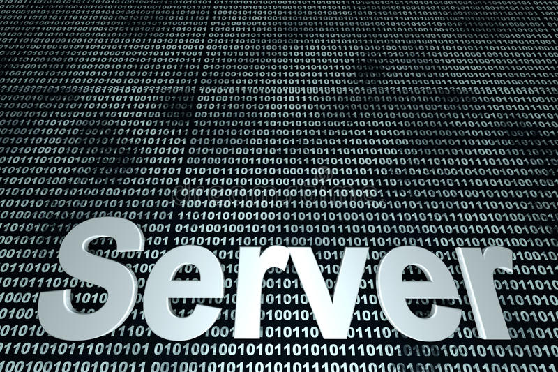 Serweru binarny tło obraz stock