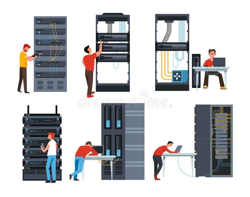 Serweru ewidencyjnego magazynu cyfrowe Internetowe nowożytne technologie ilustracji