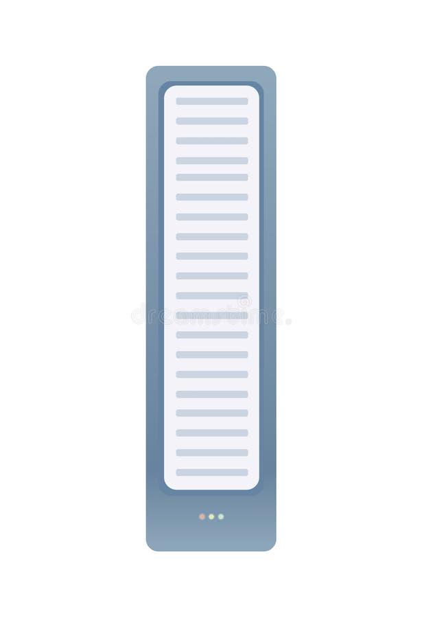 Serweru lub systemu jednostka Odizolowywająca na biel wektorowa ilustracja ilustracji