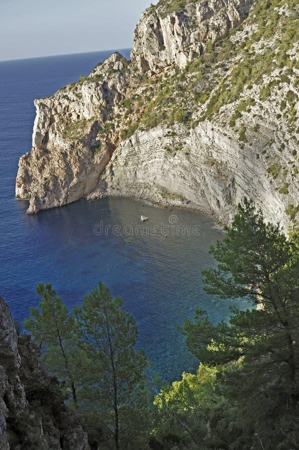 Ses Balandres (Ibiza) stock photography