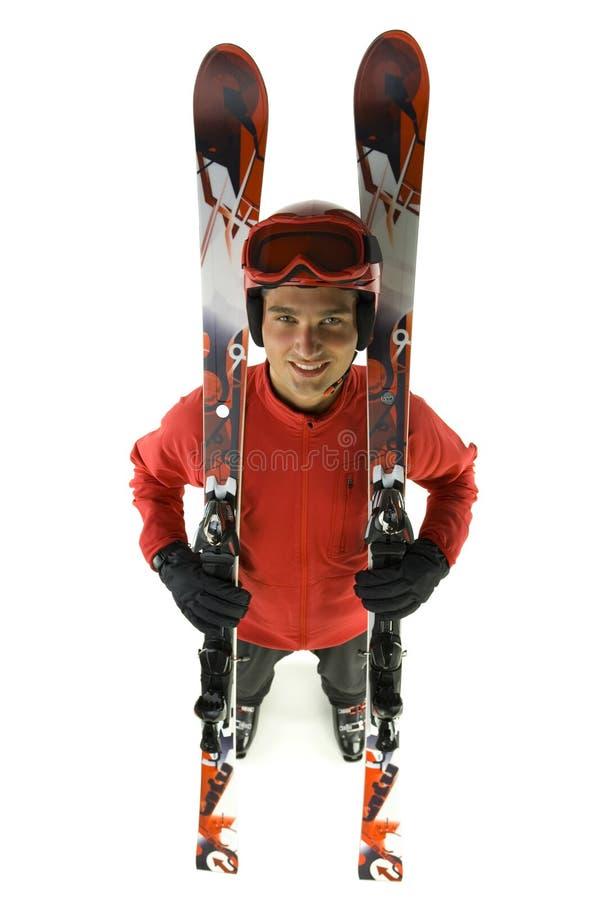 ses skis de skieur photo libre de droits