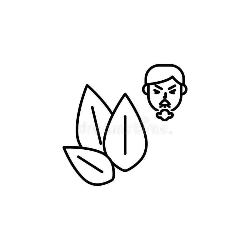 Sesam, allergisch gezichtspictogram Element van problemen met allergieënpictogram Dun lijnpictogram voor websiteontwerp en ontwik vector illustratie