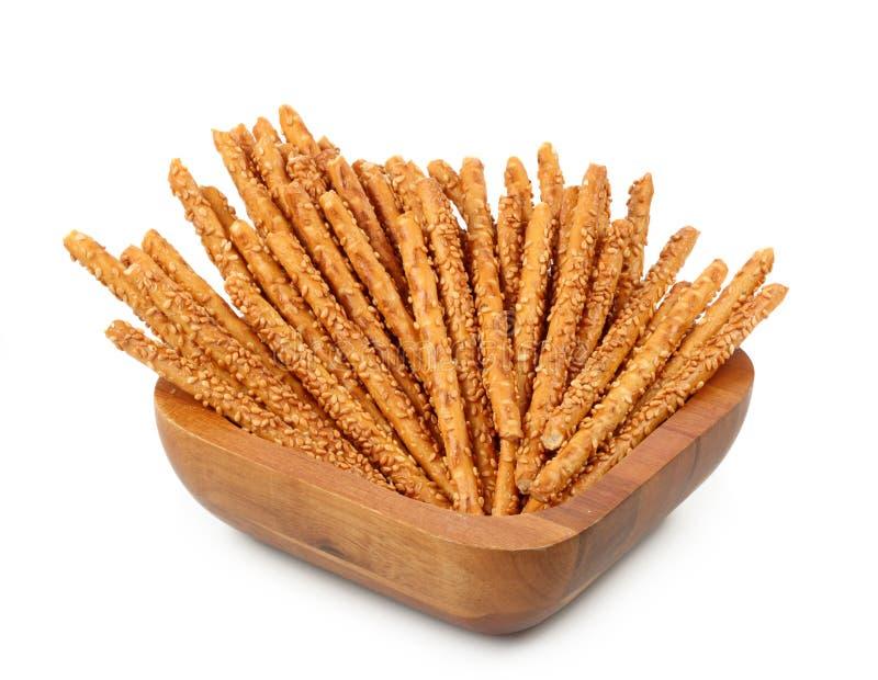 Sesam breadsticks stock afbeeldingen