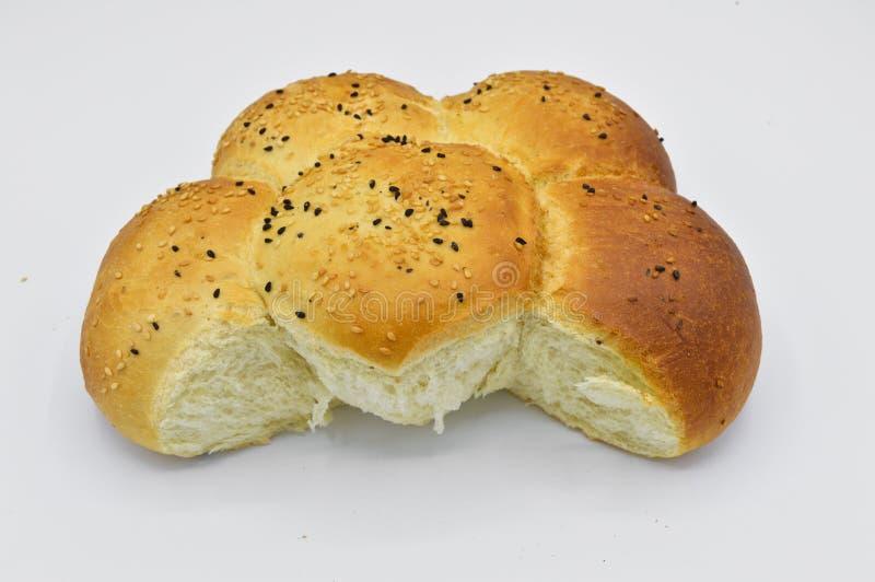 Sesam en zwart zaad op vers gebakken heet brood royalty-vrije stock foto