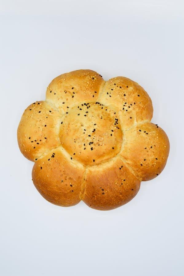 Sesam en zwart zaad op vers gebakken heet brood royalty-vrije stock fotografie