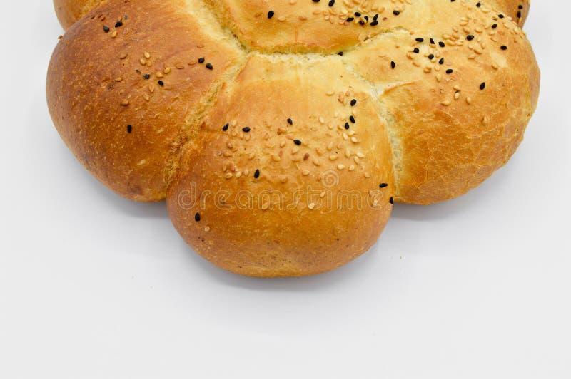Sesam en zwart zaad op vers gebakken heet brood royalty-vrije stock foto's