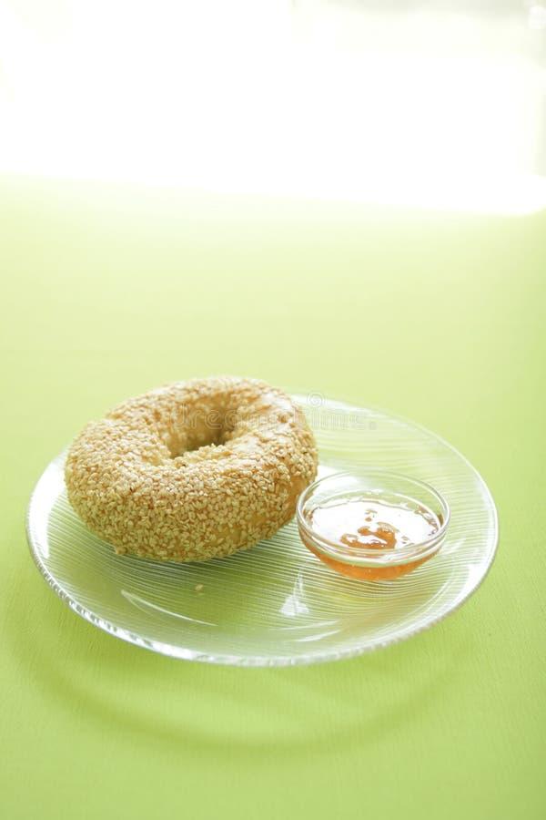 Download Sesame bagel stock photo. Image of bagel, round, tasty - 10769534