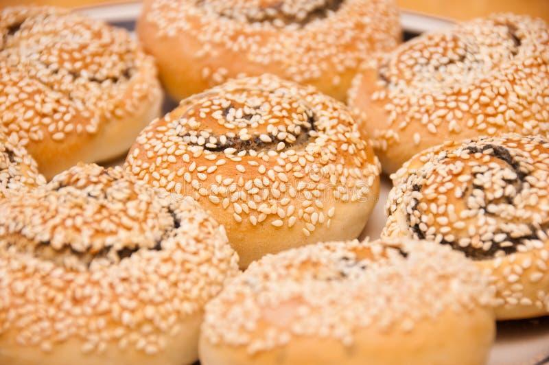 Sesame cakes stock photos