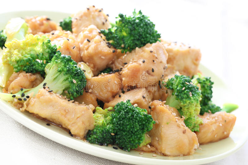 Sesame chicken stock images