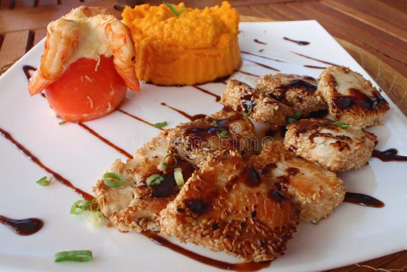 Download Sesame fish stock image. Image of carrot, lunch, shrimp - 12441469