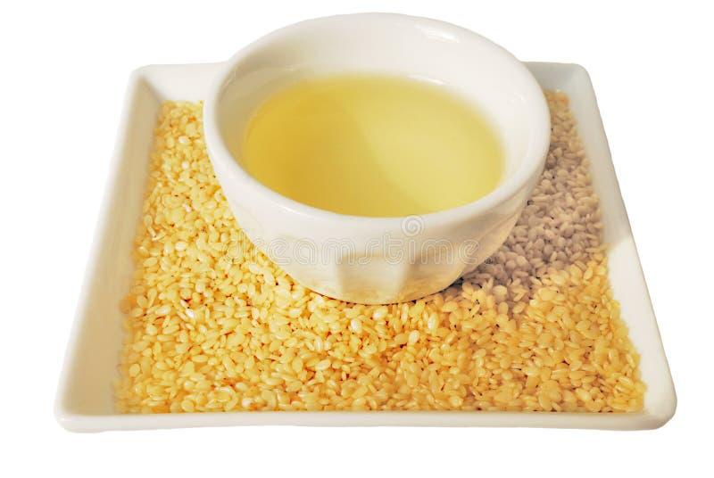 Sesame oil stock photography