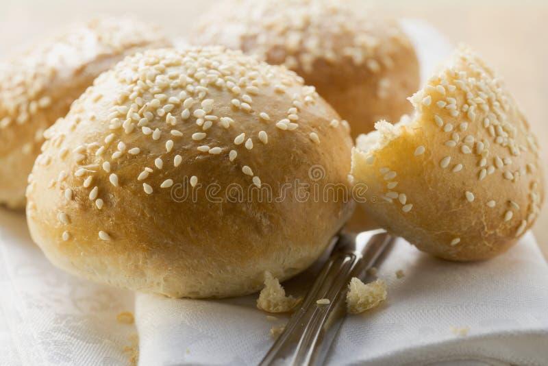 Download Sesame rolls stock photo. Image of broken, several, sesame - 7676034