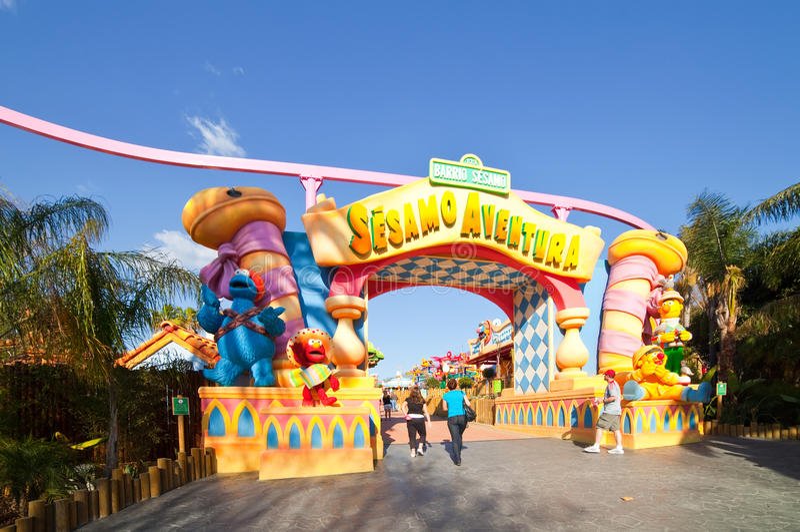 Sesame street area at port aventura theme park editorial - Port aventura plan ...