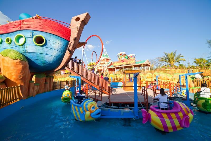 Sesame Streetbereich am PortAventura Freizeitpark stockfoto