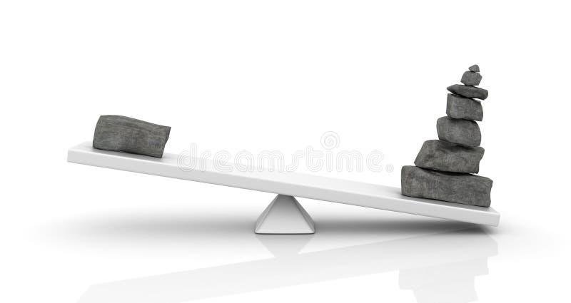 石头平衡 向量例证