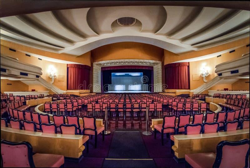 SESC Quitandinha Theater room at Quitandinha Palace former Casino Hotel - Petropolis, Rio de Janeiro, Brazil. Petropolis, Brazil - Nov 8, 2017: SESC Quitandinha stock image