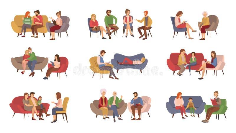 Sesión de la psicoterapia, servicios de la psicoterapia libre illustration