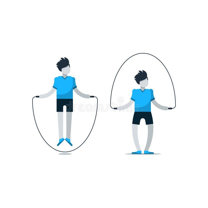 Sesión del entrenamiento del gimnasio del deporte, ejercicio cardiio stock de ilustración