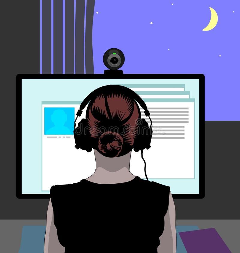 Sesión del webcam fotografía de archivo libre de regalías